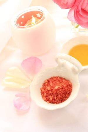 rock salt: Rock salt and aroma candle