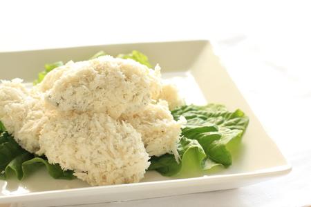 冷凍食品、パン粉と牡蠣