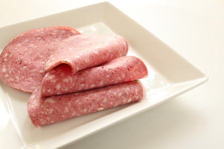 italian sausage: Italian sausage, salami Stock Photo