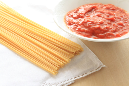 meat sauce: Meat sauce and spaghetti
