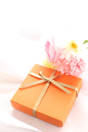 copys pace: orange color gift box
