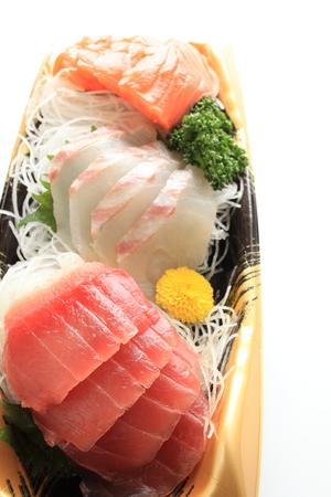 freshness: La cocina japonesa, frescura salm�n, el at�n, dorada en la bandeja de la comida