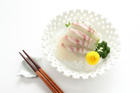 sea bream: Japanese cuisine, freshness Sea bream Sashimi