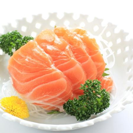 the freshness: Japanese cuisine, freshness Salmon Sashimi