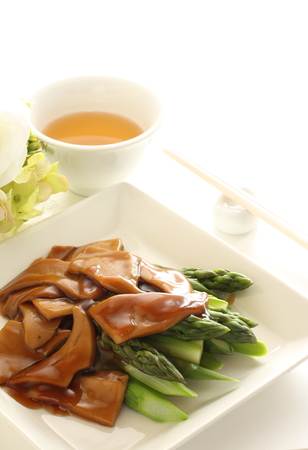 shell fish: Chinese cuisine, simmered shell fish and vegetable Stock Photo