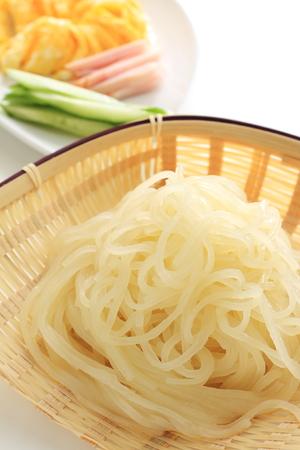 prepared: Korean food, prepared ingredient for cooking Naengmyeon Stock Photo