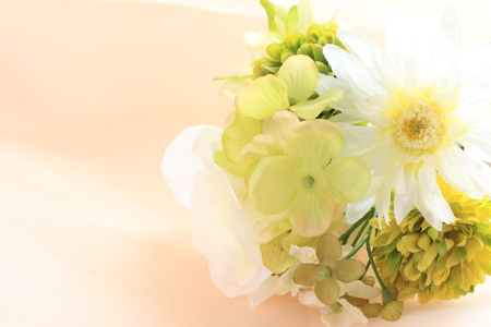 Artificial flower for wedding background Stock Photo