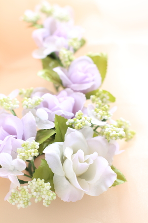artificial flower: Artificial flower for wedding background Stock Photo