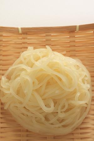 cold: Korean cold noodles Stock Photo