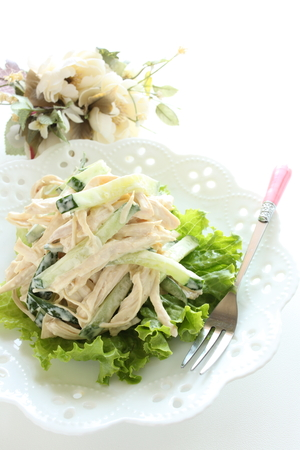 chicken salad: Homemade cucumber and chicken salad