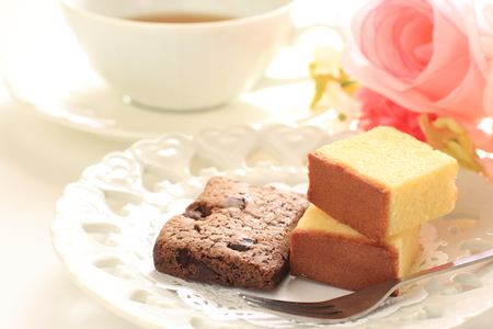 drink tea: Homemade assorted cake and tea