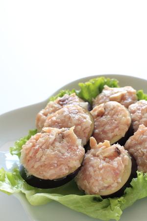 preparaba: Carne picada preparada en berenjena imagen de cocci�n para