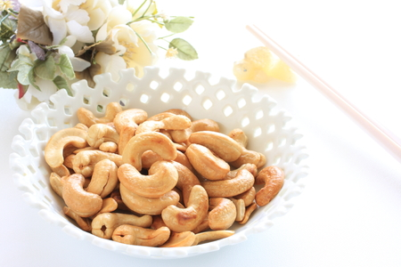deep fried: Deep fried cashew nut Stock Photo