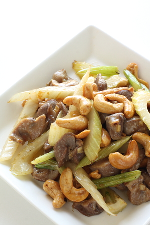 stir fried: Chinese food, gizzard and celery stir fried with celery