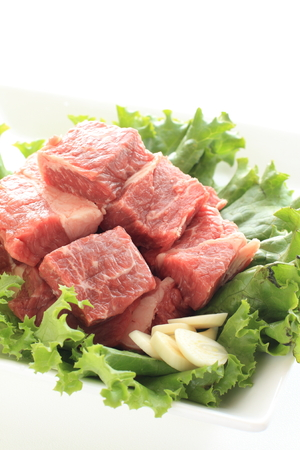 sirloin steak: Freshness beef sirloin steak and garlic