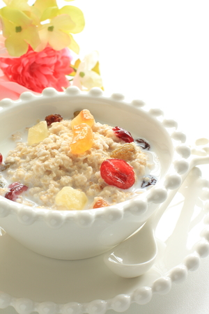dried fruit: Oat meal and dried fruit