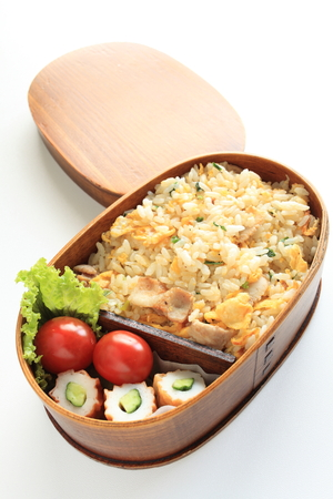 chinese meal: Homemade fried rice Bento