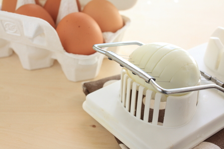 cutter: egg cutter Stock Photo