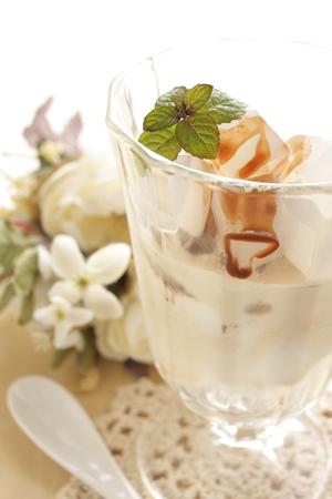 nata: ice cream with Philipine food nata de coco