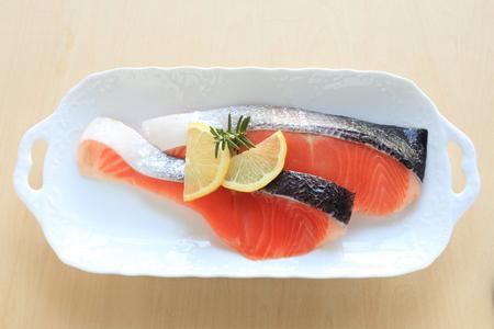 prepared: freshness salmon prepared with lemon