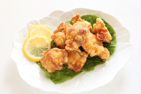 comida japonesa: Homemade fried chicken in Japanese style