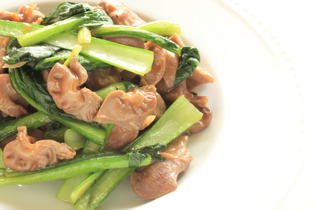 stir: Chinese food, gizzard and vegetable stir fried