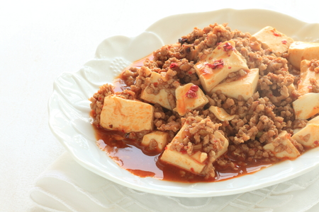 Chinese food, Mapo Tofu Stock Photo