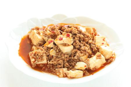 close up food: Chinese food, Mapo Tofu Stock Photo