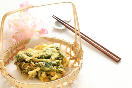 green vegetable: Japansese food green vegetable Tempura Stock Photo