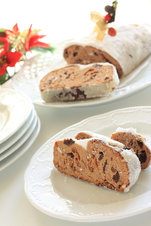 Homemade stollen for Christmas image