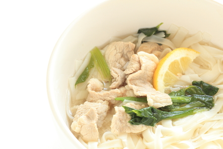 vietnamese food: Vietnamese food, beef and rice noodles Stock Photo