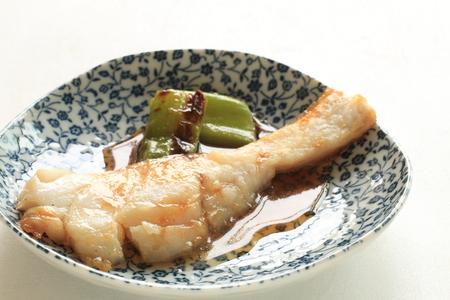 Chinese food, pan fried cod fish