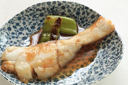 chinesisch essen: Chinesisches Essen, Pfanne gebraten Kabeljau Lizenzfreie Bilder