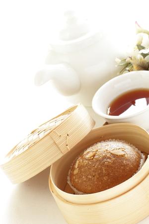 alimentos y bebidas: La comida china, pastel al vapor imagen cha �am para cosina