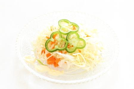 english food: Coleslaw cabbage salad for English food image Stock Photo