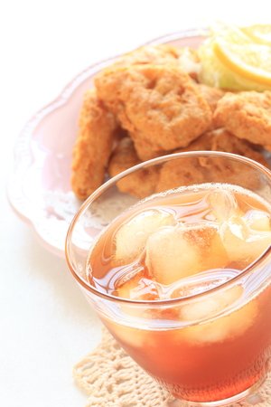 nugget: iced tea and chicken nugget
