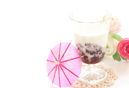 asian food: Red bean Milk