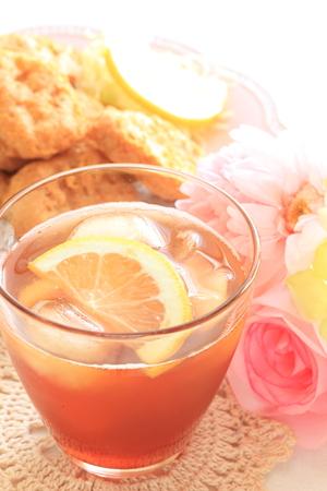 nugget: Lemon tea with Chicken Nugget