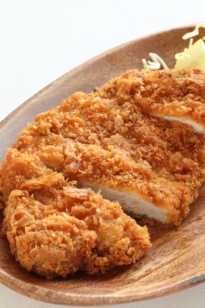close up food: Japanese food, close up of Tonkatsu
