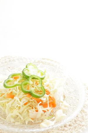 comida inglesa: Alimentos Ingl�s, ensalada de col repollo a la pimienta verde Foto de archivo