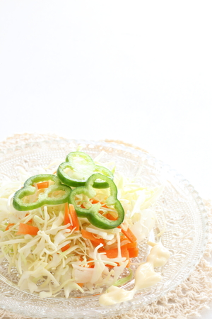 comida inglesa: Alimentos Inglés, ensalada de col repollo a la pimienta verde Foto de archivo