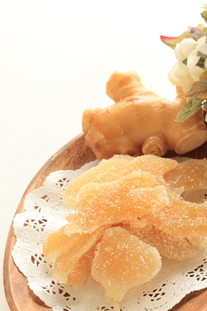 suger: Dried suger ginger Stock Photo