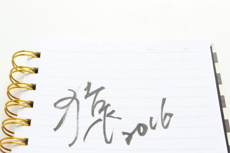 hand written: hand written for Monkey year 2016