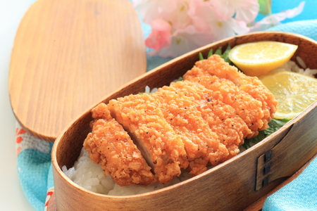 Japanese packed lunch with Tonkatsu