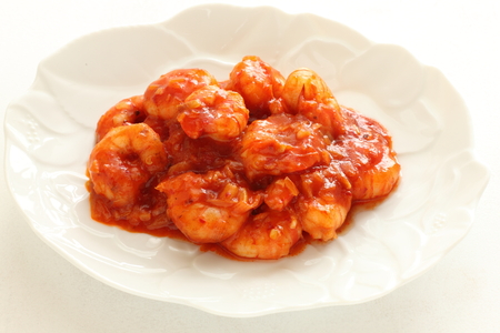 Chinese food, chili shrimp