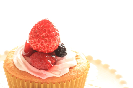 cup cake: Strawberry cup cake Stock Photo