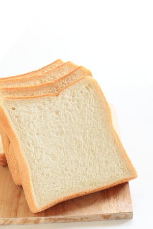 chopping board: sliced bread on chopping board