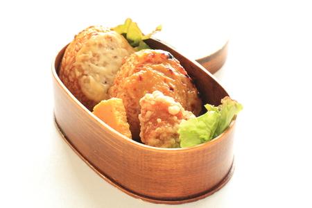 bento: Japanese food, miso Rice ball bento
