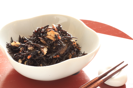 Japanese food, Hijiki seaweed simmered