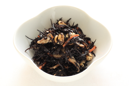 Japanese food, Hijiki seaweed simmered